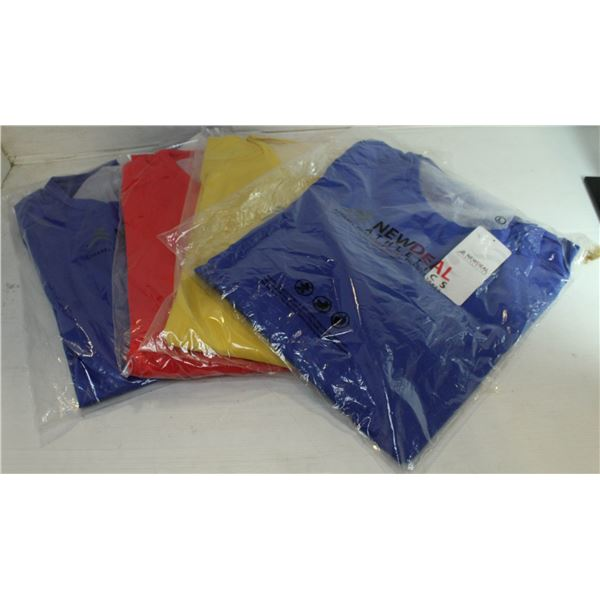 LOT OF 4 SZ L NEW ATHLETIC SHIRTS  ( 3 DIFFERENT