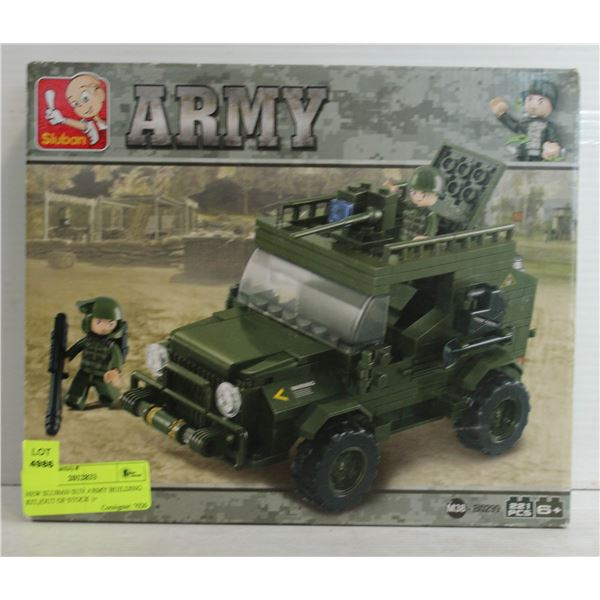 NEW SLUBAN SUV ARMY BUILDING KIT,(OUT OF STOCK )+