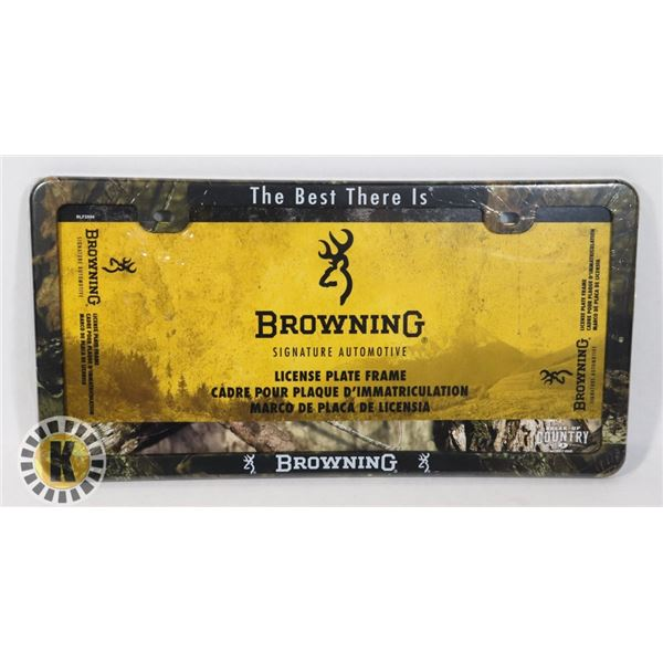 NEW OFFICIAL LICENSED BROWNING LICENSE PLATE