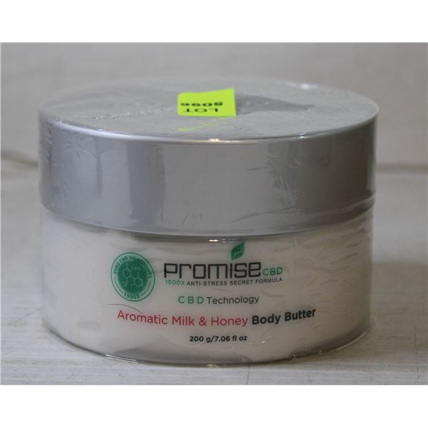 CBD INFUSED AROMATIC MILK AND HONEY BODY BUTTER