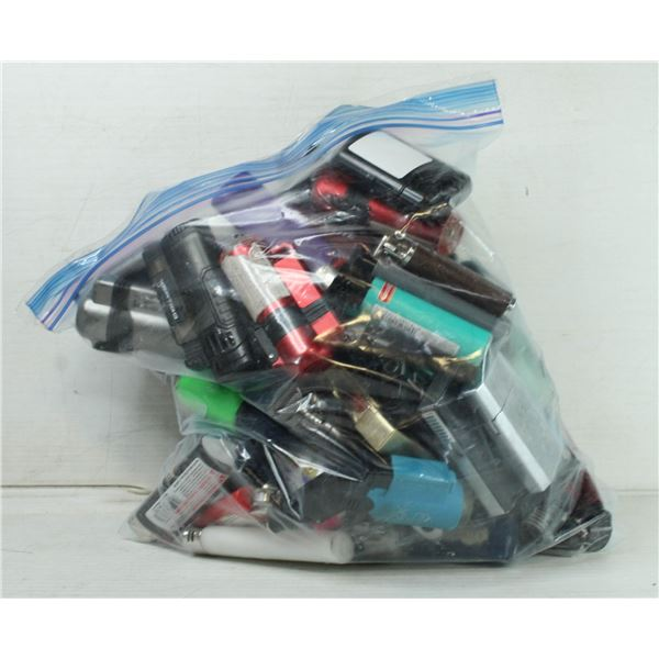 BAG OF ASSORTED LIGHTERS