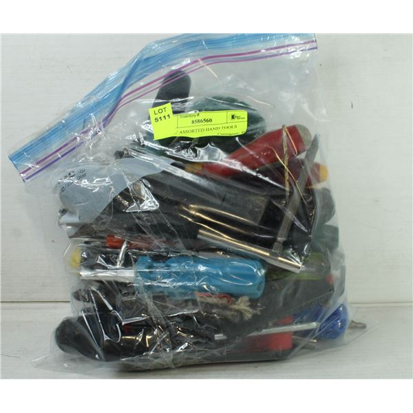 BAG OF ASSORTED HAND TOOLS