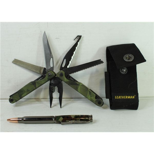 LEATHERMAN CHARGE CAMO MULTITOOL KNIFE AND PEN