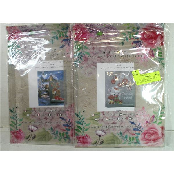 CROSS STITCH AMISHOP KITS 16 COUNT WITH THREAD