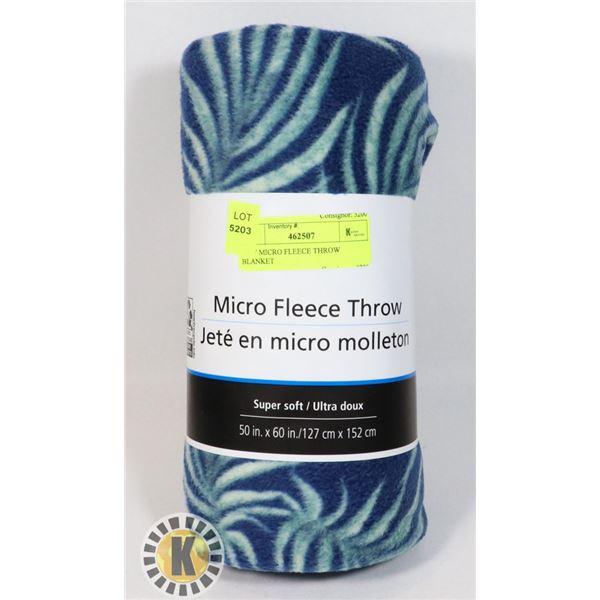 NEW MICRO FLEECE THROW BLANKET