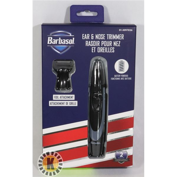 NEW BARBASOL EAR AND NOSE HAIR TRIMMER