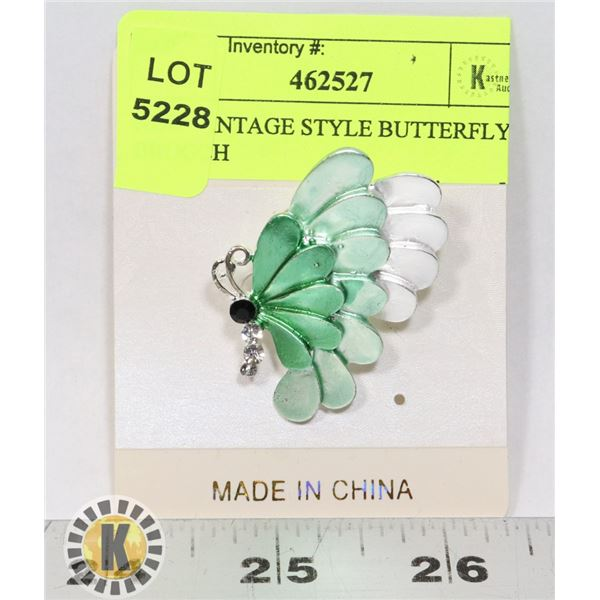 NEW VINTAGE STYLE BUTTERFLY BROOCH