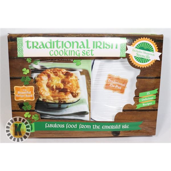 NEW TRADITIONAL IRISH COOKING SET. PIE PAN AND REC