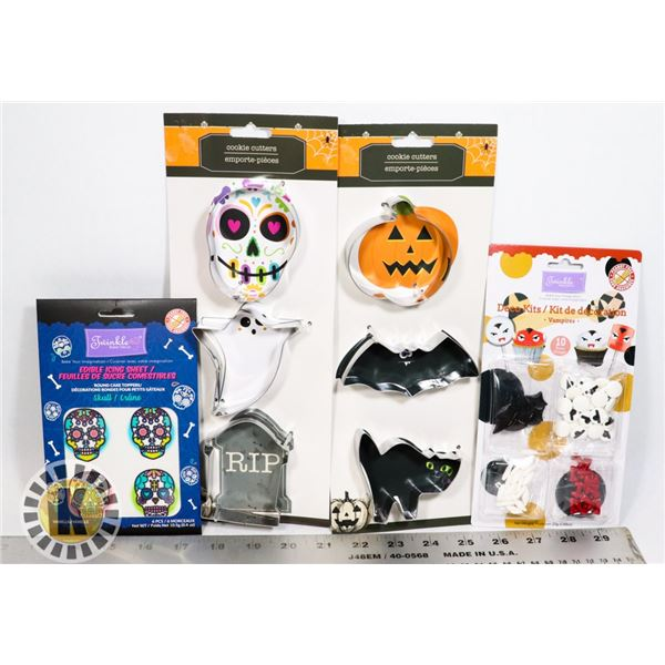 NEW SPOOKY COOKIE CUTTERS WITH EDIBLE DECORATIONS