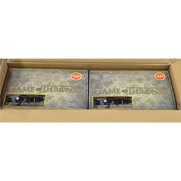 TWO CASES OF GAME OF THRONES COLLECTOR SETS.