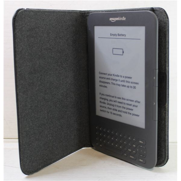 AMAZON KINDLE E-READER WITHOUT CHARGER