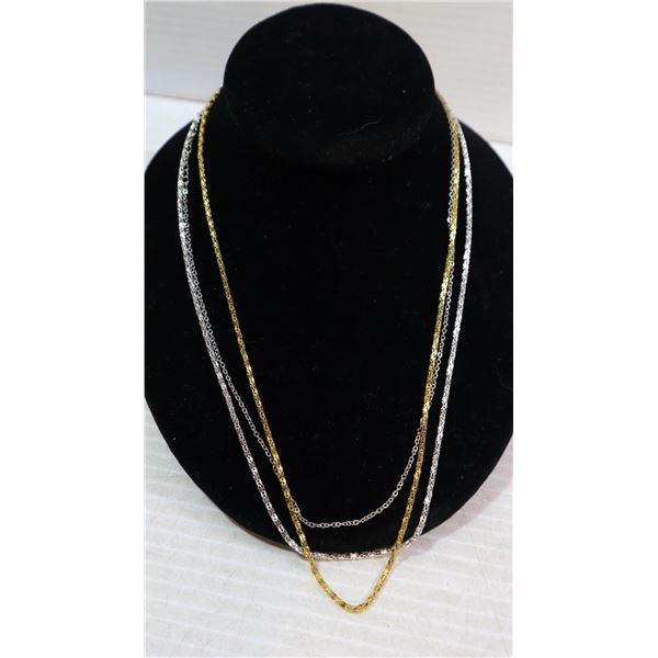 LOT OF 3 DIFFERENT  NECKLACE