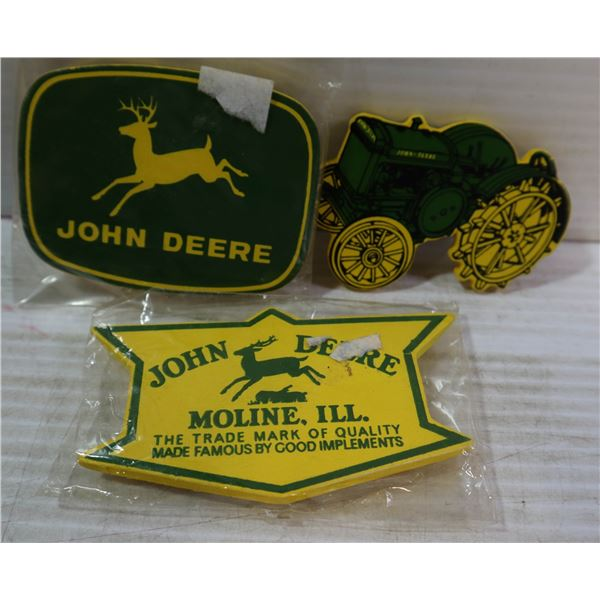 3 JOHN DEER FRIDGE MAGNETS