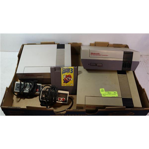 TRAY OF NES ITEMS - NO POWER CORDS
