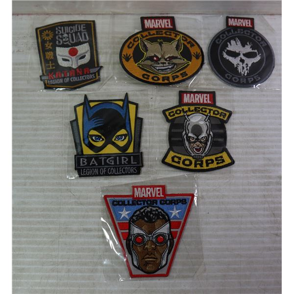 LOT OF 6 NEW MARVEL COLLECTOR PATCHES
