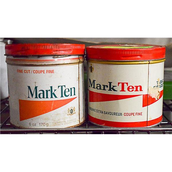 2 TOBACCO TINS-MARK 10