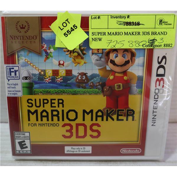 SUPER MARIO MAKER 3DS BRAND NEW