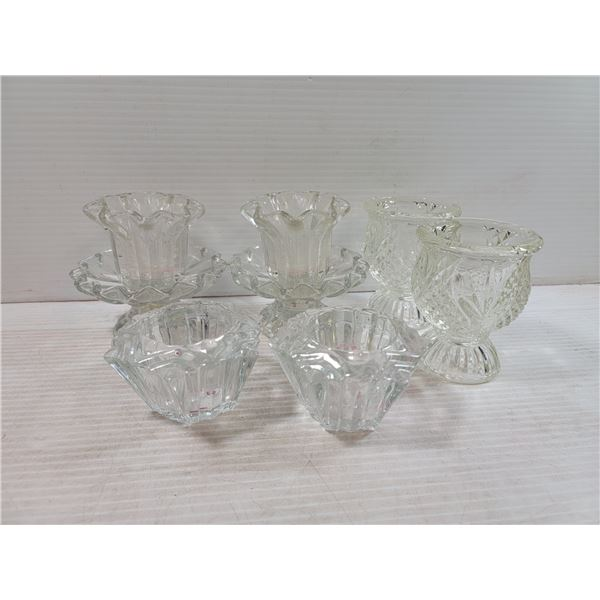 COLLECTION OF DECORATIVE CANDLE HOLDERS