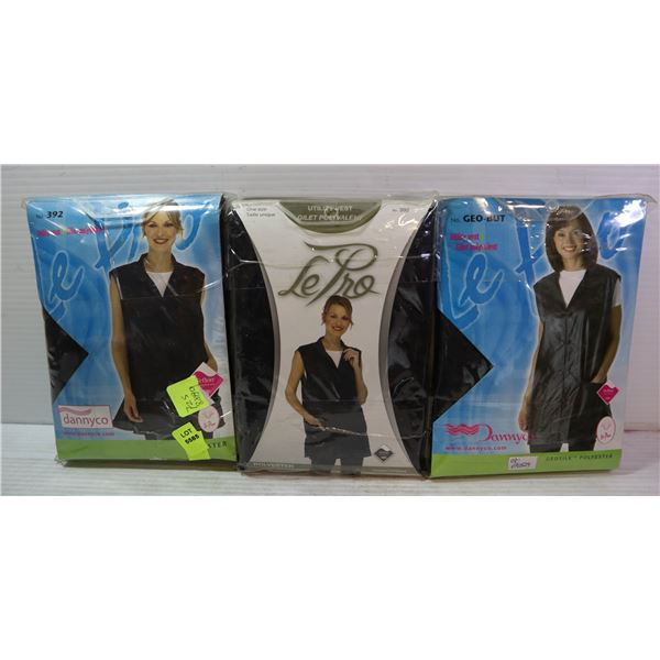 LOT OF 3 POLYESTER UTILITY VESTS