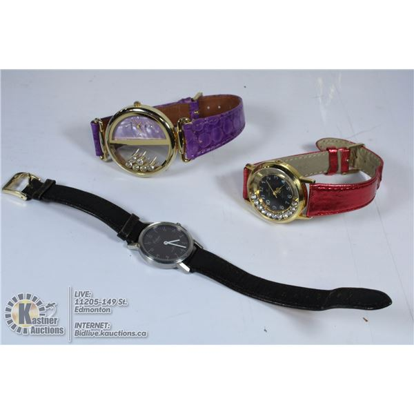 THREE WATCHES ALL WORKING