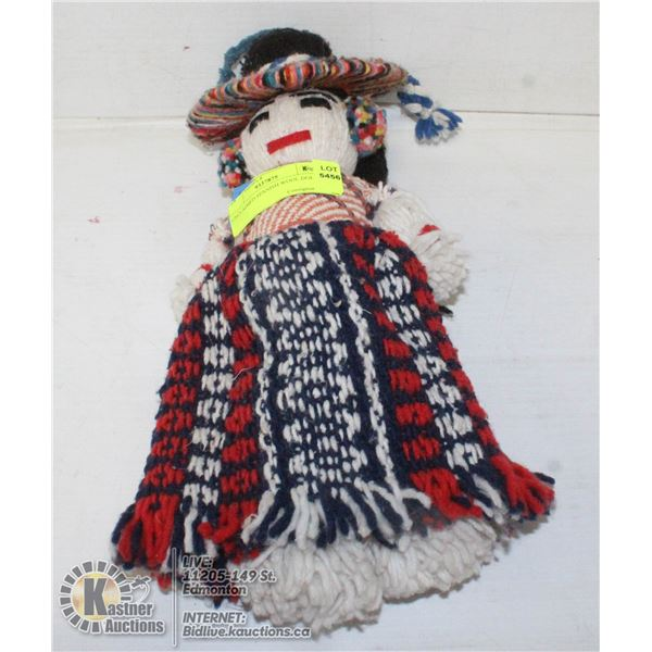 UNCLAIMED SPANISH WOOL DOLL