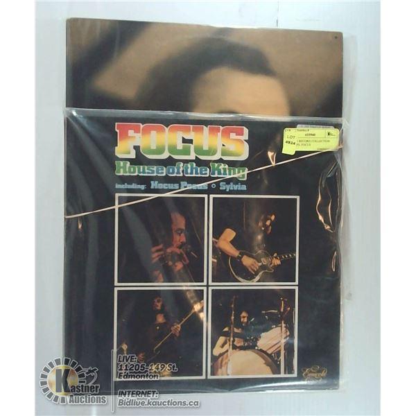 2 ESTATE RECORD COLLECTION VINYL LPS. FOCUS