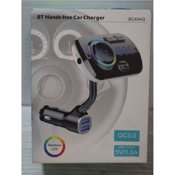 BLUE TOOTH HANDS FREE CAR CHARGER.