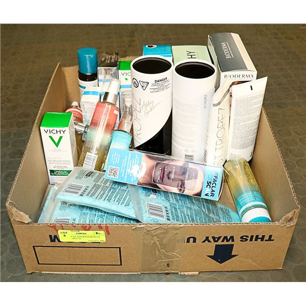 FLAT LOT OF ASSORTED BEAUTY CARE PRODUCTS
