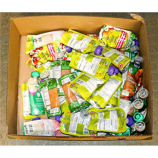 FLAT LOT OF ASSORTED BABY FOOD