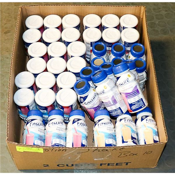 FLAT LOT OF ASSORTED PROTEIN DRINKS