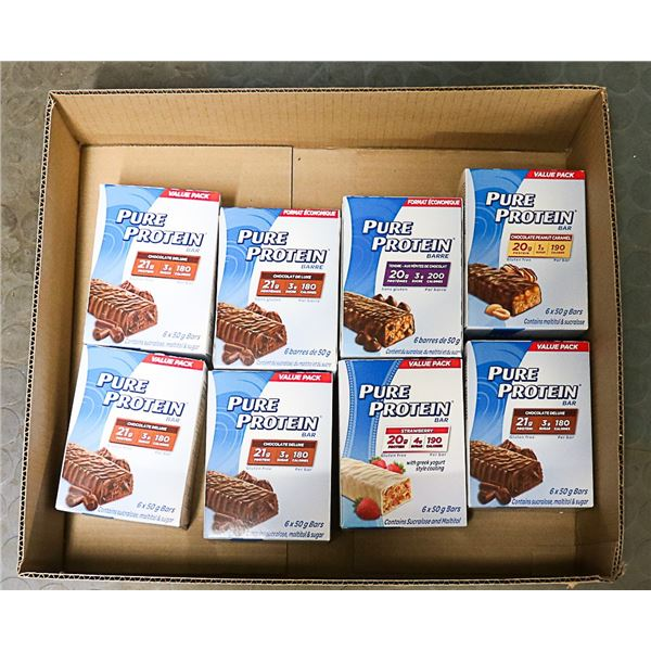 FLAT LOT OF ASSORTED PROTEIN BARS