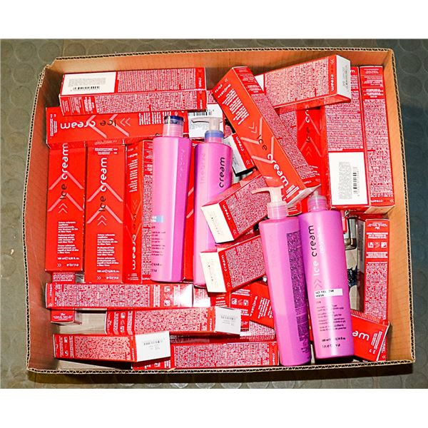 FLAT LOT OF ASSORTED HAIR COLOUR & CARE PRODUCTS