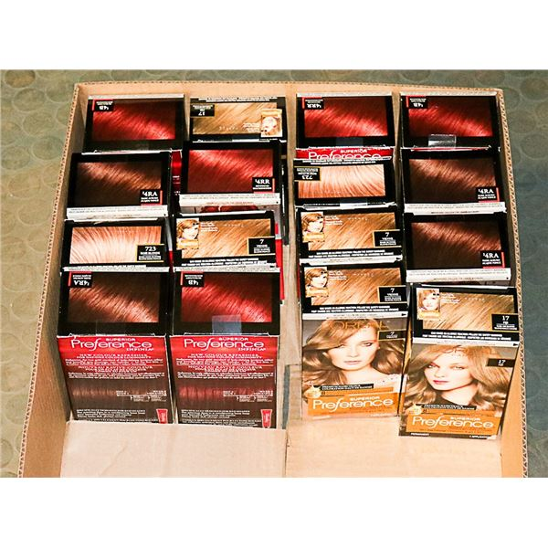 FLAT LOT OF ASSORTED L'OREAL HAIR COLOUR