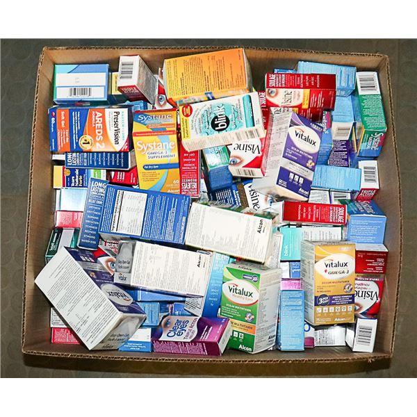 FLAT LOT OF ASSORTED EYE HEALTH TREATMENTS