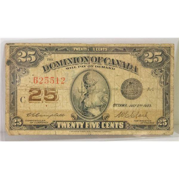 CANADIAN DOLLAR 1923 SHINPLASTER