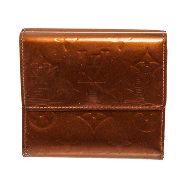 Louis Vuitton Brown Monogram Vernis Leather Elise Sarah Wallet