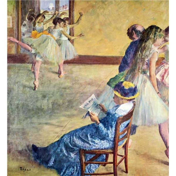 Edgar Degas - During The Dance Lessons  Madame Cardinal
