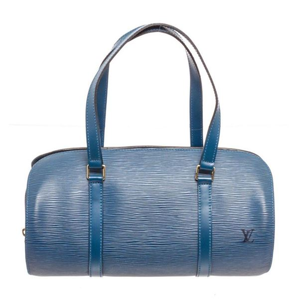 Louis Vuitton Blue Soufflot Shoulder Bag
