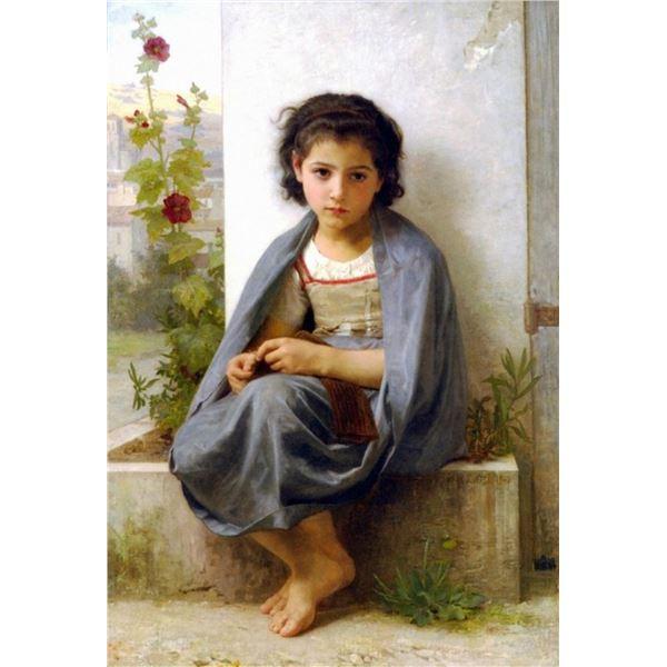 William Bouguereau - The Little Knitter