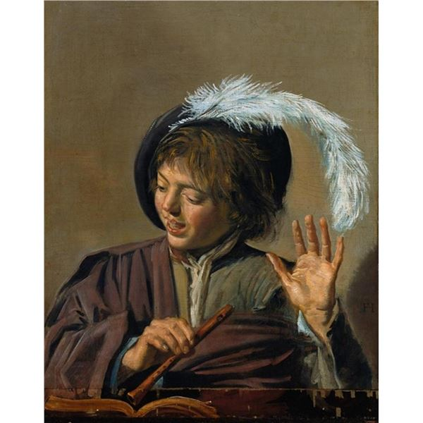 Frans Hals - Singing Boy with Flute