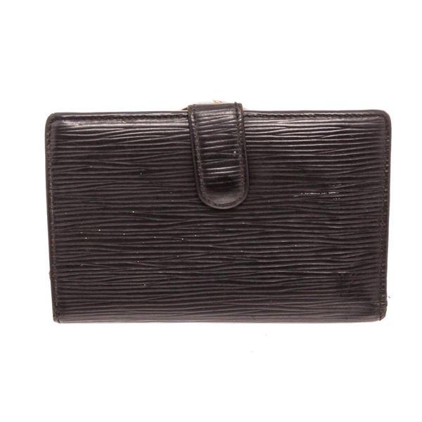 Louis Vuitton Black Epi Leather French Wallet