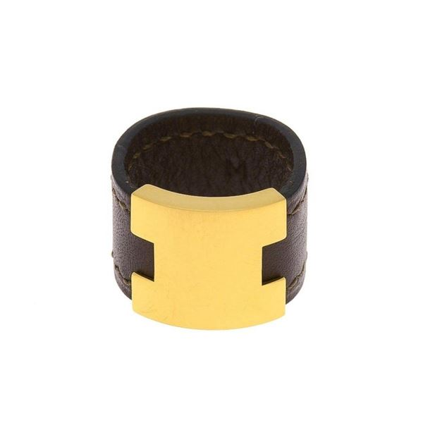 Hermes Brown Lurie Leather Ring