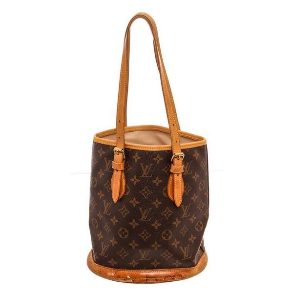 Louis Vuitton Brown Monogram Petit Bucket Bag
