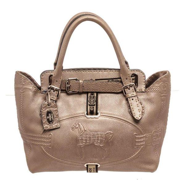 Fendi Tan Leather Selleria Shoulder Bag