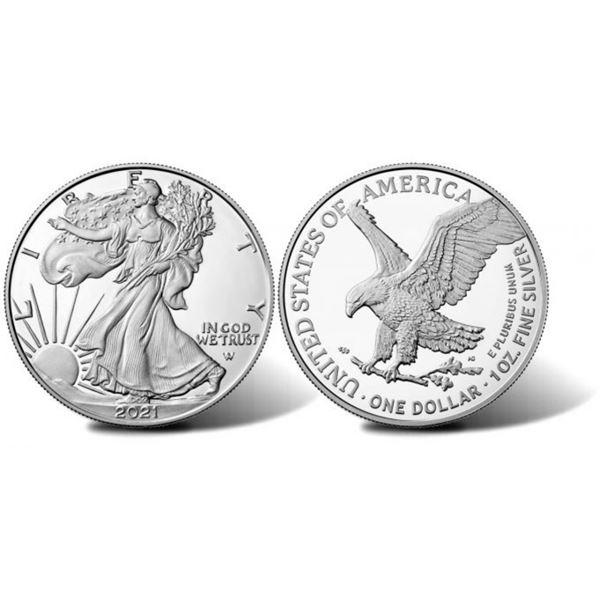 2021 Type-2 American .999 Fine Silver Eagle Dollar Coin