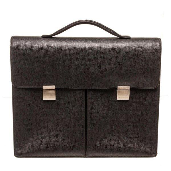 Louis Vuitton Black Leather Briefcase