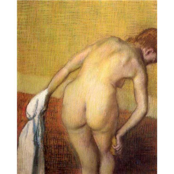 Edgar Degas - Woman Drying With Towel And Sponge