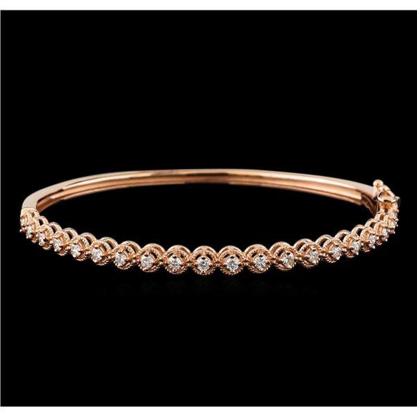 0.75 ctw Diamond Bracelet - 14KT Rose Gold