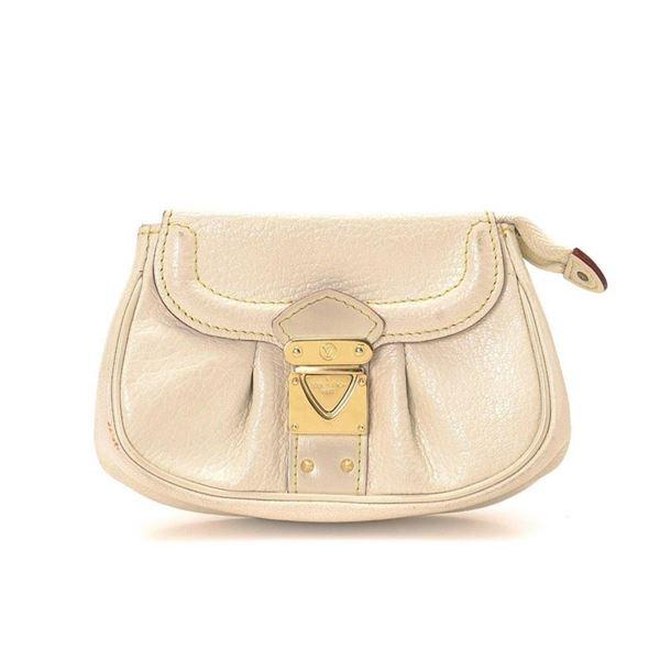 Louis Vuitton Cream Monogram Suhali Coin Purse