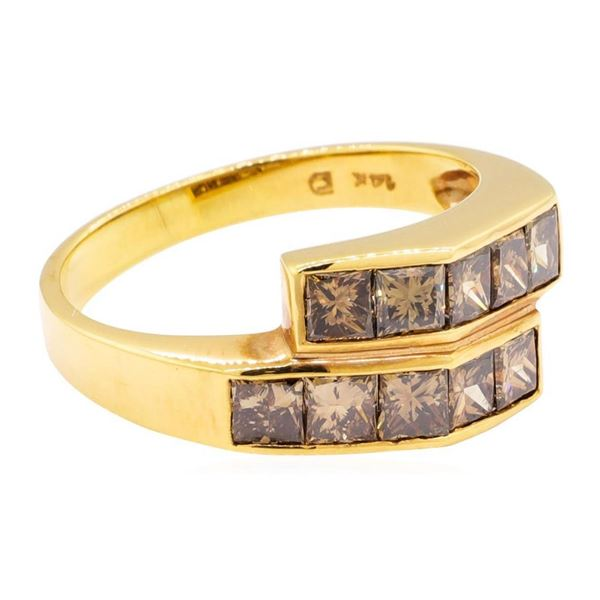 1.65 ctw Princess Cut Diamond Ring - 14KT Rose Gold